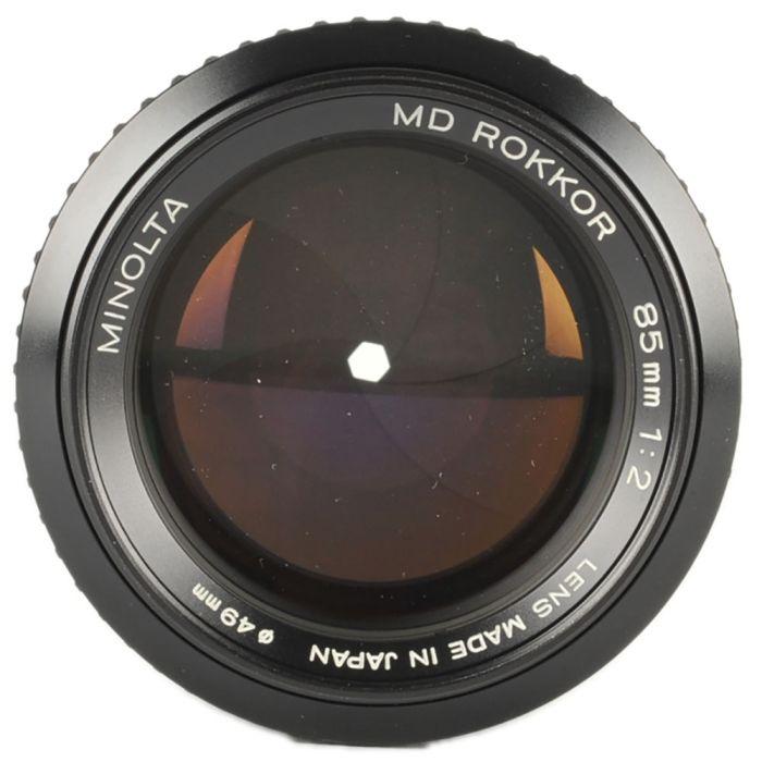 Minolta 85mm F/2 Rokkor MD Mount Manual Focus Lens {49}