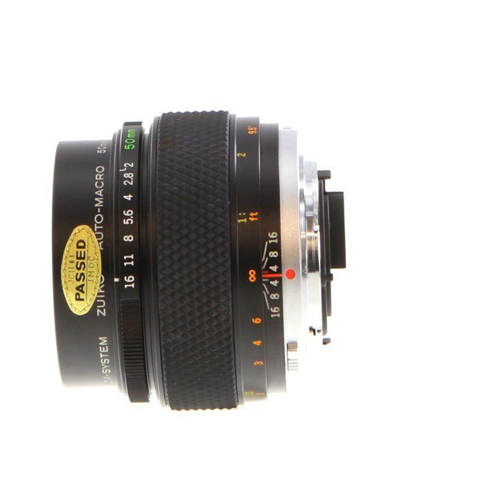 Olympus Zuiko 50mm F/2 Macro OM Mount Manual Focus Lens {55}