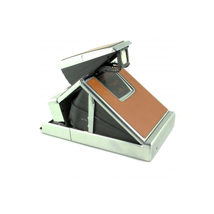 Polaroid SX-70 Alpha 1 Camera, Brown Leather