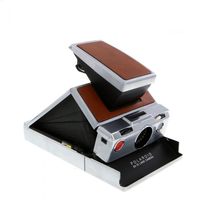 Polaroid SX-70 Camera, Chrome/Tan