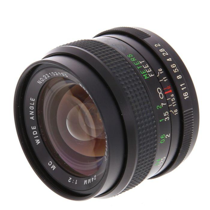 Vivitar 24mm F/2 Manual Focus Lens For Pentax K Mount {55}