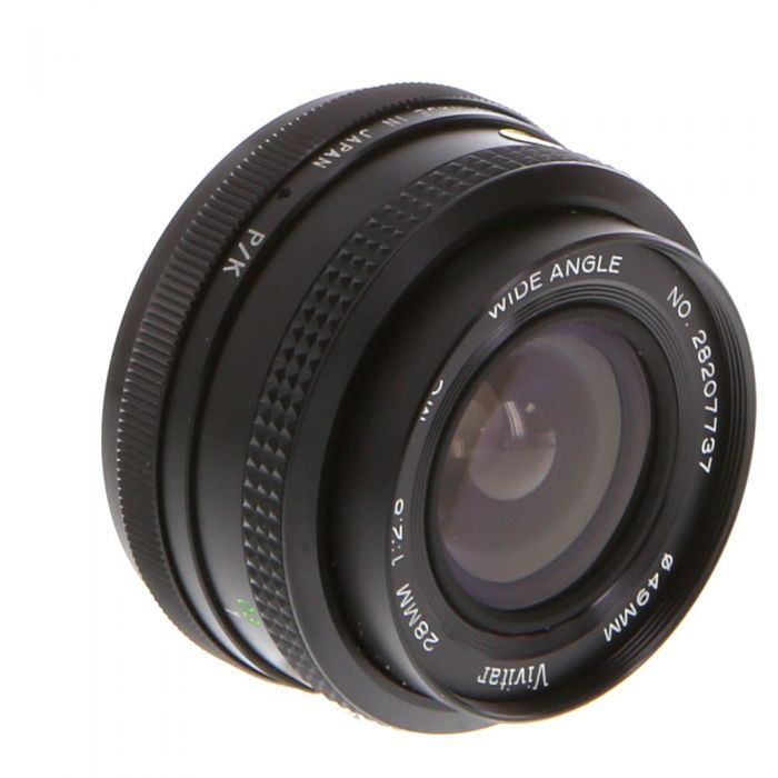 Vivitar 28mm F/2.8 Manual Focus Lens For Pentax K Mount {49}