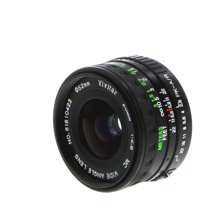Vivitar 28mm F/2.8 Macro A Manual Focus Lens For Pentax K Mount {52}