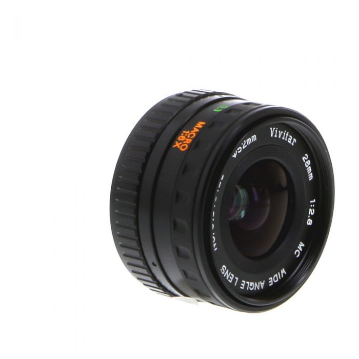 Vivitar 28mm F/2.8 Macro A Manual Focus Lens For Pentax K Mount {52}