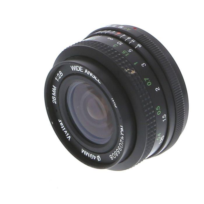 Vivitar 28mm F/2.8 A Manual Focus Lens For Pentax K Mount {49}