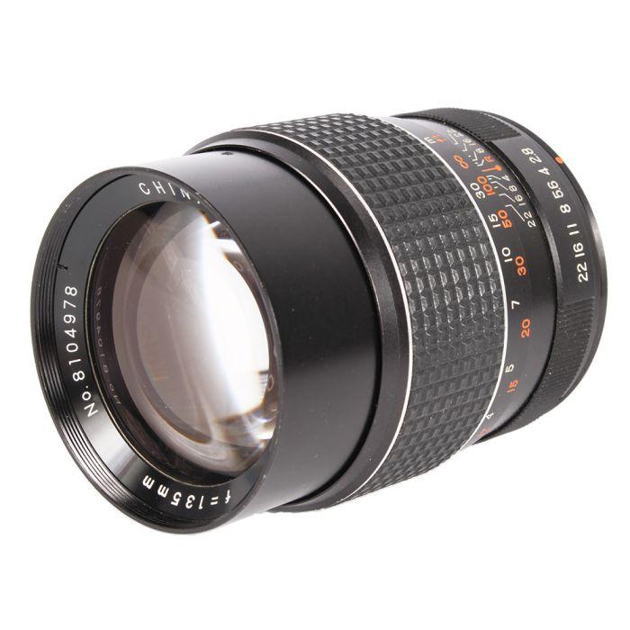 Miscellaneous Brand 135mm F/2.8 MC Manual Focus Lens For Pentax K Mount {58}