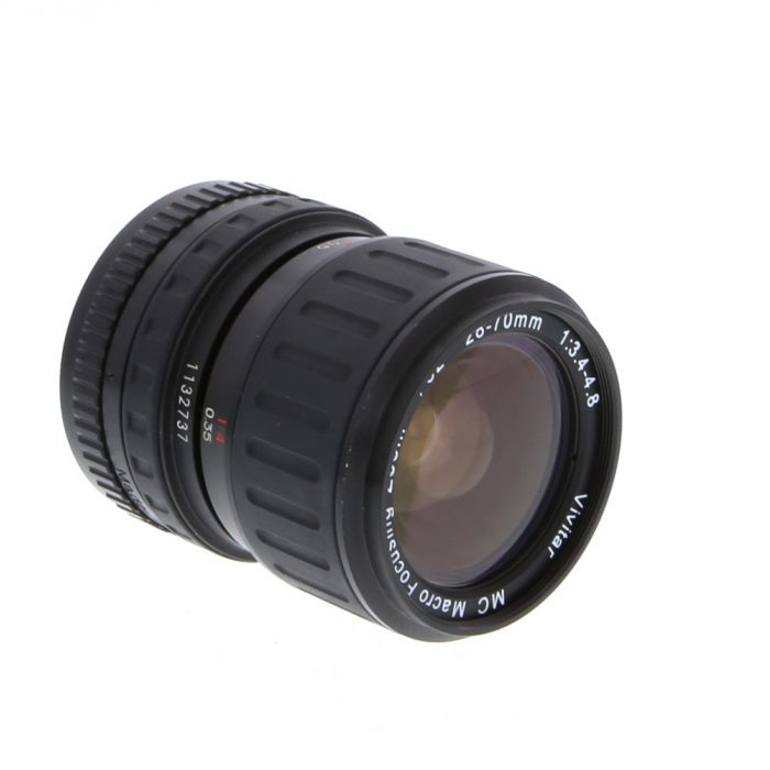 Vivitar 28-70mm F/3.4-4.8 Macro 2-Touch Manual Focus Lens For Pentax K Mount {52}