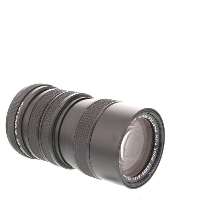 Vivitar 70-150mm F/3.8 Close Focusing Manual Focus Lens For Pentax K Mount {52}