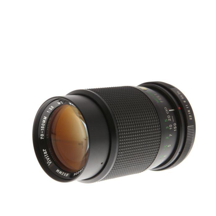 Vivitar 70-150mm F/3.8 Macro Manual Focus Lens For Pentax K Mount {52}