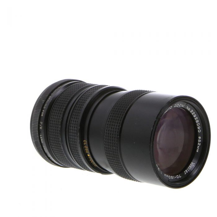 Vivitar 70-150mm F/3.8 Close Focusing 2-Touch Manual Focus Lens For Pentax K Mount {52}