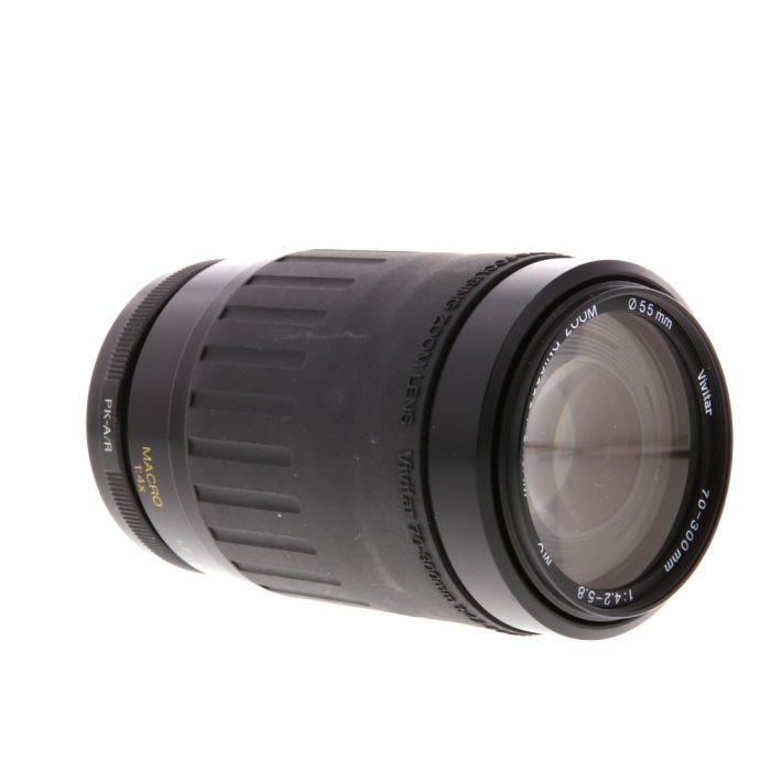 Vivitar 70-300mm F/4.2-5.8 Macro MC A Manual Focus Lens For Pentax K Mount {55}
