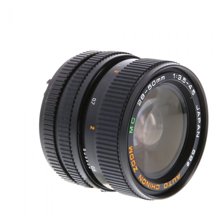 Chinon 28-50mm F/3.5-4.5 2-Touch Manual Focus Lens For Pentax K Mount {58}