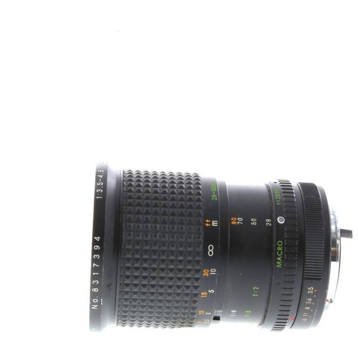 Miscellaneous Brand 28-80mm F/3.5-4.5 Macro Manual Focus Lens For Pentax K Mount {72}