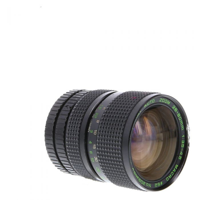 Miscellaneous Brand 28-80mm F/3.5-4.5 Macro 2-Touch Manual Focus Lens For Pentax K Mount {62}