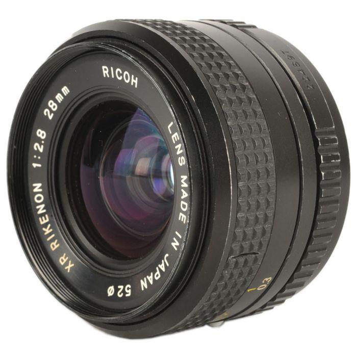 Ricoh 28mm F/2.8 Rikenon XR Manual Focus Lens For Pentax K Mount {52}