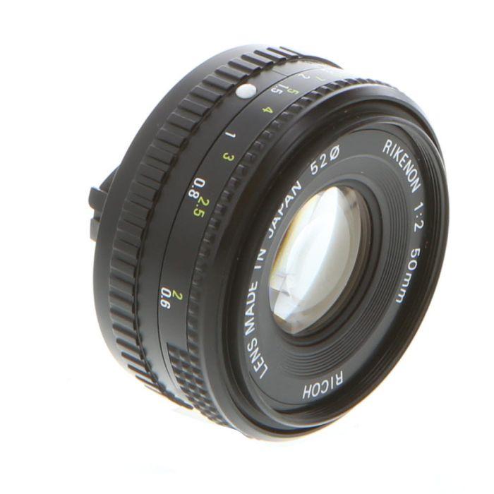 Ricoh 50mm F/2 Rikenon Manual Focus Lens For Pentax K Mount {52}