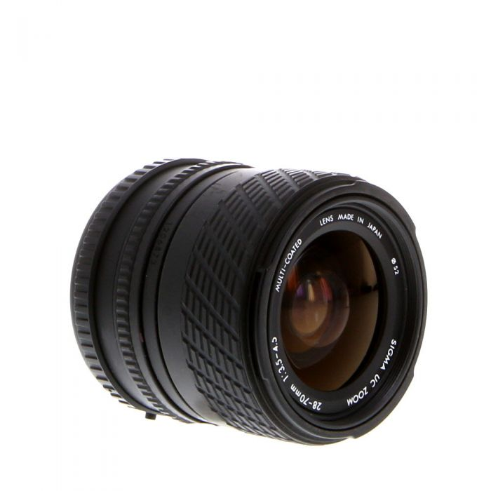 Sigma 28-70mm F/3.5-4.5 UC A 2-Touch Manual Focus Lens For Pentax K Mount {52}