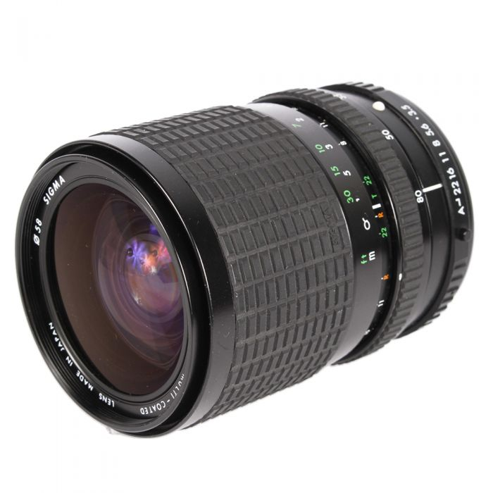 Sigma 28-80mm F/3.5-4.5 Macro A 2-Touch Manual Focus Lens For Pentax K Mount {58}