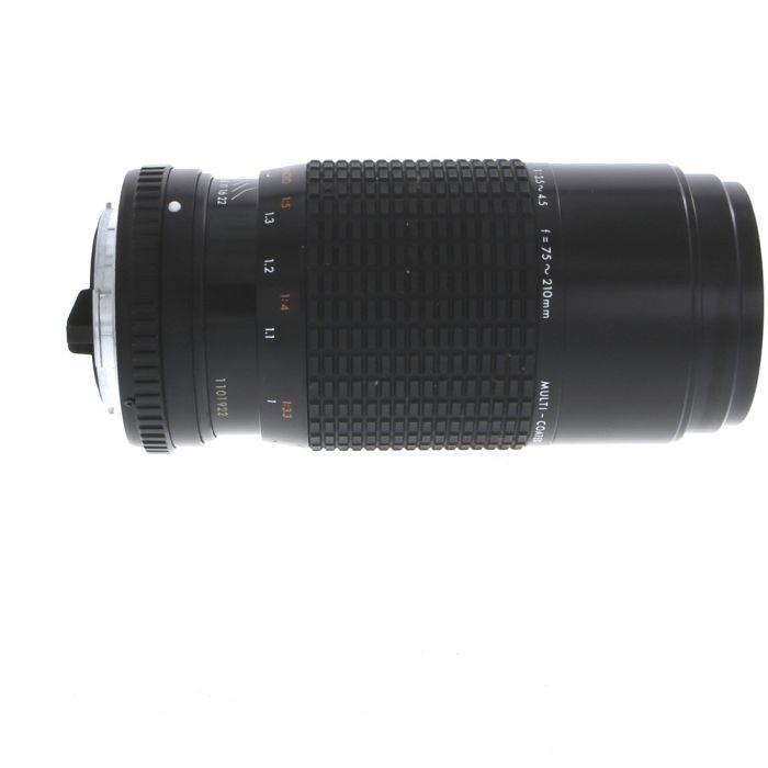 Sigma 75-210mm F/3.5-4.5 Zoom III Manual Focus Lens For Pentax K Mount {52}