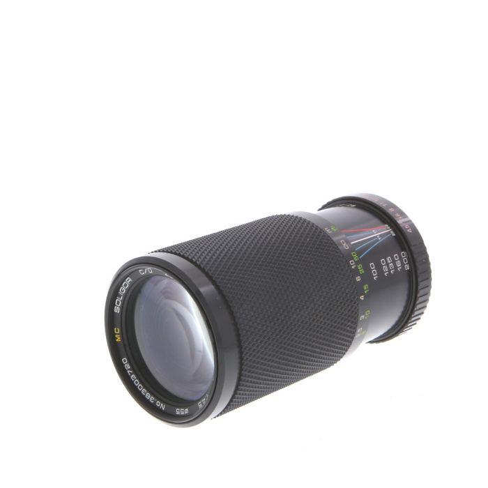 Soligor 80-200mm F/4.5 Macro Manual Focus Lens For Pentax K Mount {55}