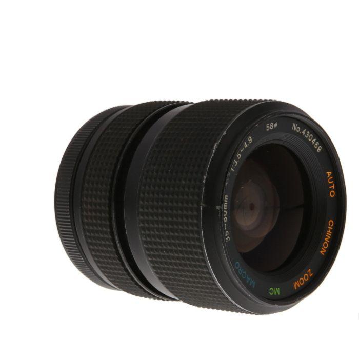 Chinon 35-80mm F/3.5-4.9 Macro Manual Focus Lens For Pentax K Mount {58}