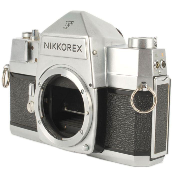 Nikon Nikkorex F \'Nippon Kogaku\' (Version 1B Without Film Reminder Dial) 35mm Camera Body, Chrome
