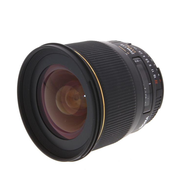 Sigma 24mm f/1.8 EX DG Aspherical Macro AF 5-Pin Lens for Nikon F {77}