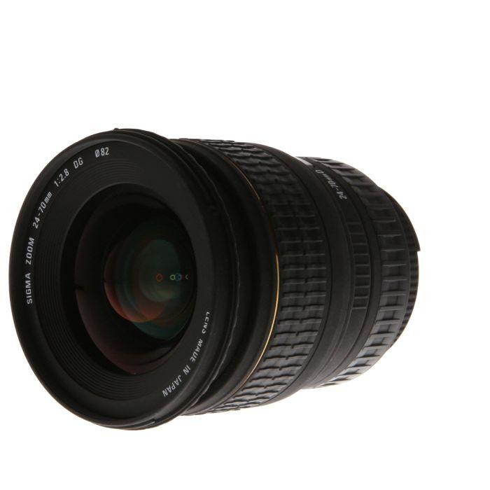 Sigma 24-70mm F/2.8 Aspherical D DG EX Autofocus Lens For Nikon {82}
