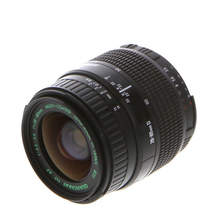Quantaray 28-80mm F/3.5-5.6 Aspherical D Autofocus Lens For Nikon {55}