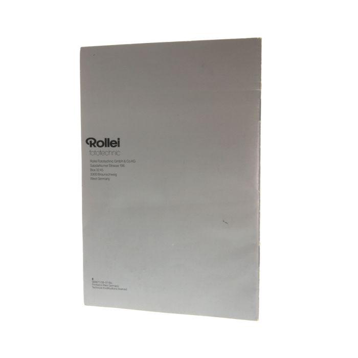 Rolleiflex 2.8 GX Instructions