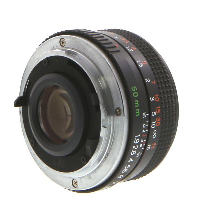 Yashica 50mm F/1.9 ML C/Y Mount Lens {52}