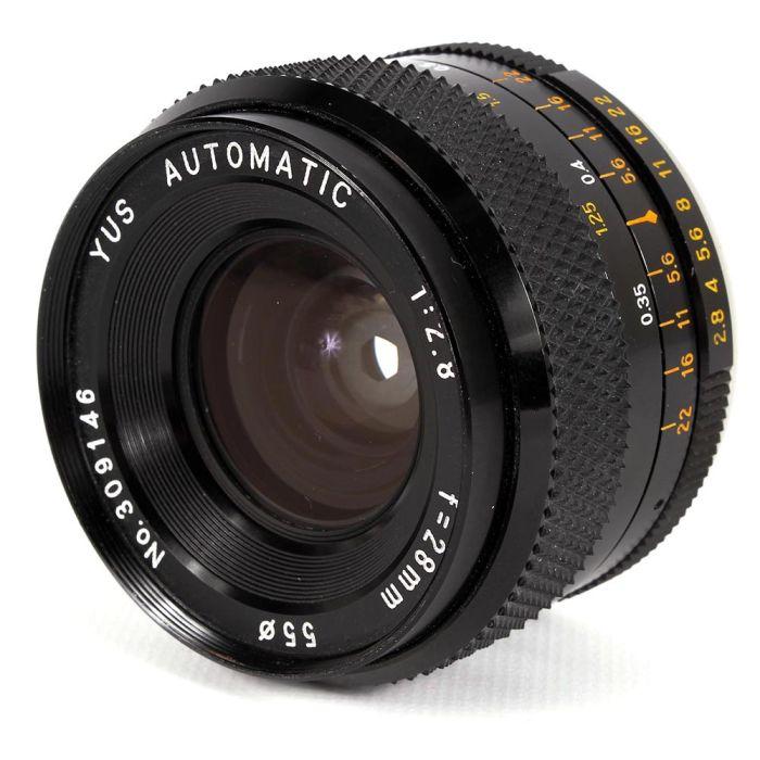 Yashica 28mm F/2.8 Yus C/Y Mount Lens {55}