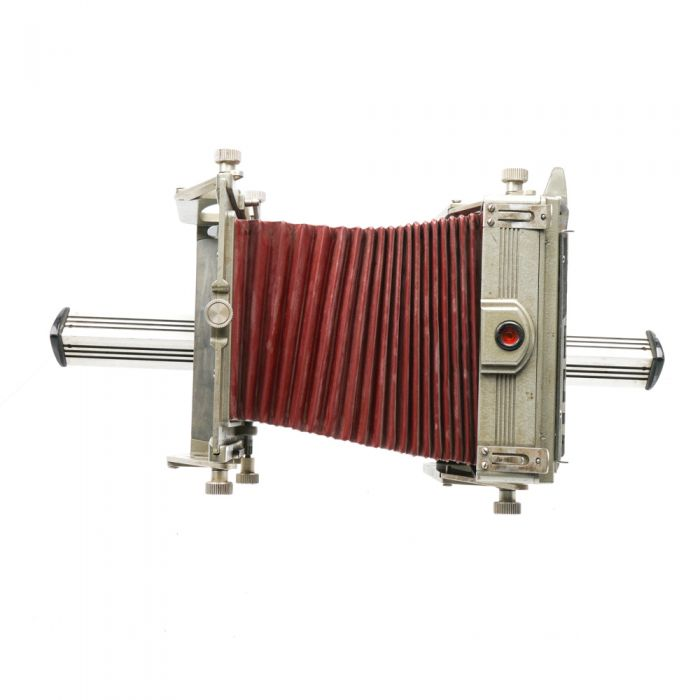 Graflex 4X5 Graphic View II View Camera Body with Red Bellows