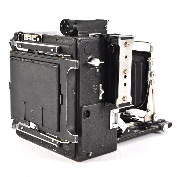 Graflex 4X5 Speed Graphic Folding View Camera with Side Rangefinder, Top Viewfinder
