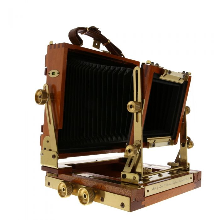 Zone VI 4X5 Classic Field Folding View Camera, Walnut (Bail Back With Golden Fittings)