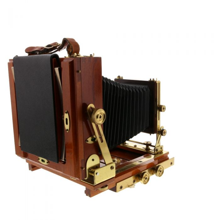 Zone VI 4X5 Classic Field Folding View Camera, Mahogany (Spring Back With Brass Fittings)