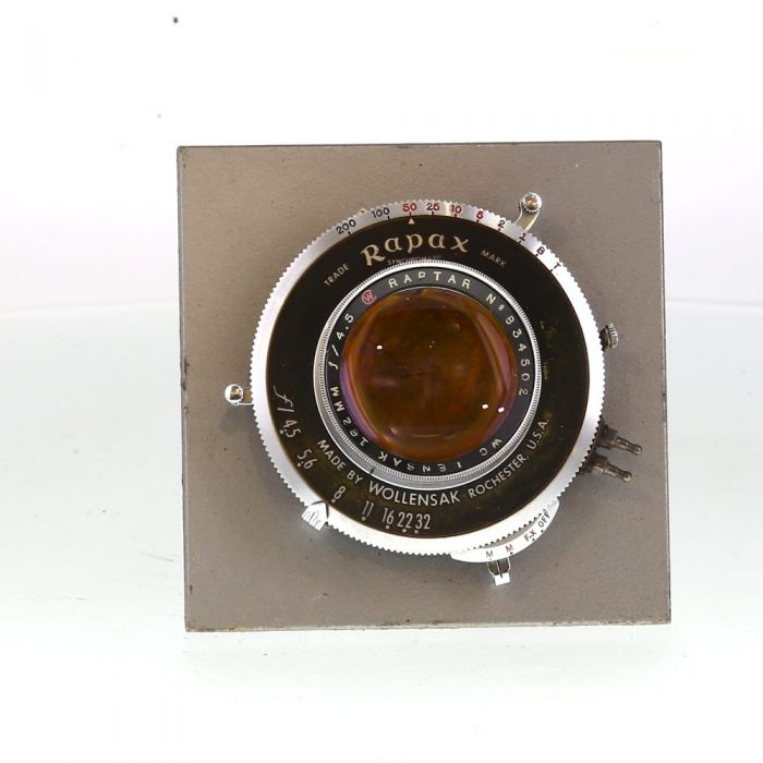 Wollensak 162mm f/4.5 Raptar,Rapax Bipost BT (42MT) 4X5 Lens