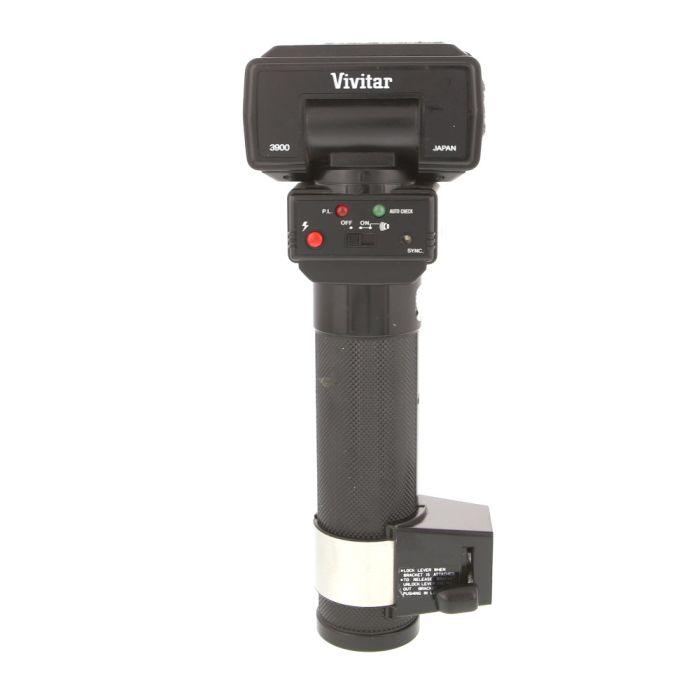 Vivitar 3900 Handle Mount Flash [GN110] {Bounce, Swivel}