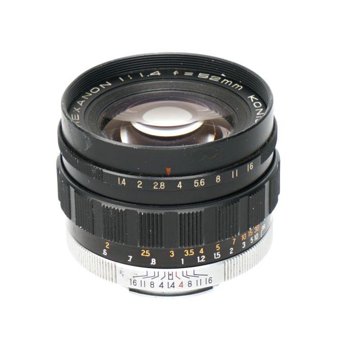 Konishiroku 52mm F/1.4 Hexanon Lens (Auto Aperture, Uncoupled) (for Konica F) {55}