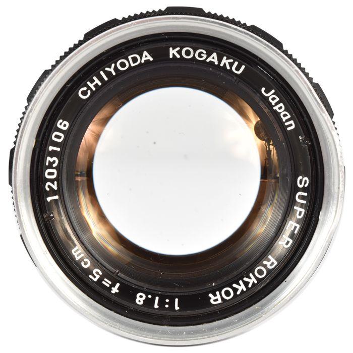 Minolta 5cm (50mm) f/1.8 Chiyoda Super Rokkor Kogaku Lens for Leica Screw Mount {46}