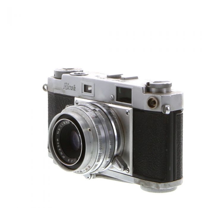 Ricoh 500 Chrome 35mm Rangefinder Camera with 4.5cm F/2.8 Ricoh Riken