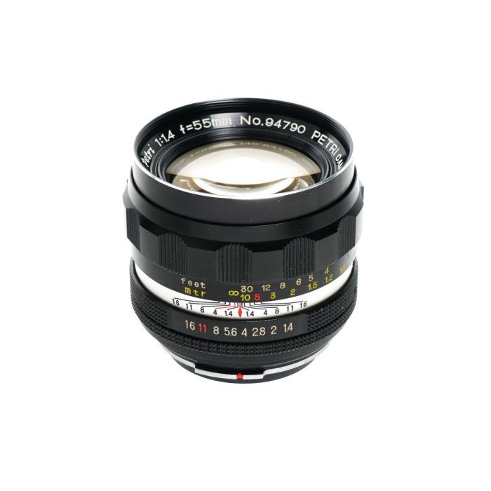 Petri 55mm F/1.4 CC Auto Lens {55}