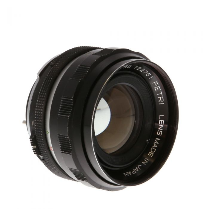 Petri 55mm F/1.8 CC Auto Black Lens {52}