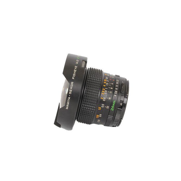Mamiya 24mm f/4 Fisheye ULD Lens for Mamiya 645 Manual Focus {Built-in Filters}