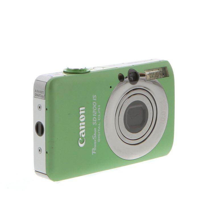 Canon Powershot SD1200 IS Green Digital Camera {10 M/P}
