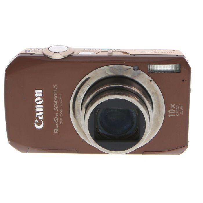 Canon Powershot SD4500 IS Brown Digital Camera {10MP}