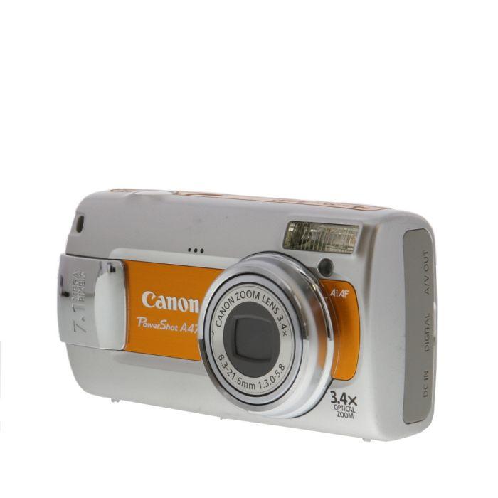 Canon Powershot A470 Orange Digital Camera {7.1MP}
