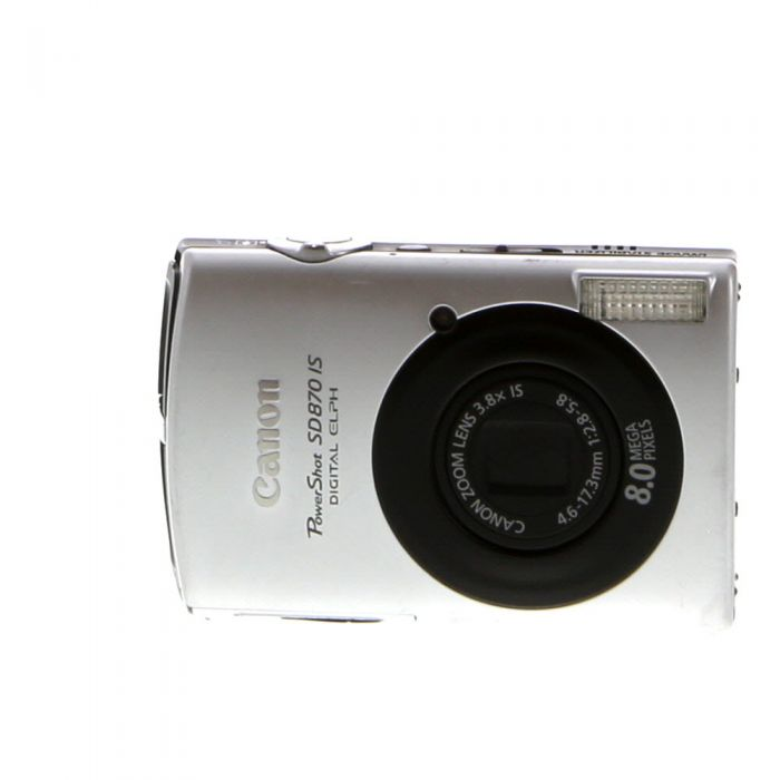 Canon Powershot SD870 IS Silver Digital Camera {8MP}