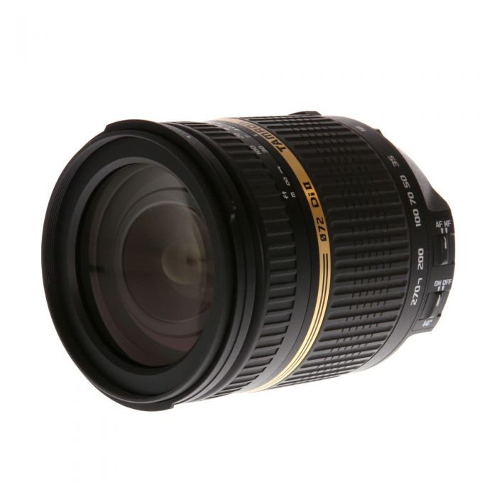 Tamron 18-270mm f/3.5-6.3 Aspherical Di II VC IF LD Macro AF Lens for Nikon APS-C DSLR {72} B003