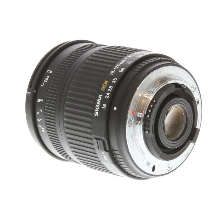Sigma 18-125mm f/3.5-5.6 DC D AF 5-Pin Lens for Nikon APS-C DSLR {62}